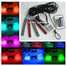 Glow Full Color LED Interior Car Kit Under Dash Foot Well Seats Inside Lighting,