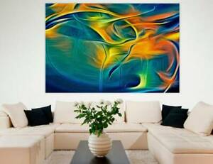 ABSTRACT WALL ART   Extra Large Canvas Painting Print Unframed