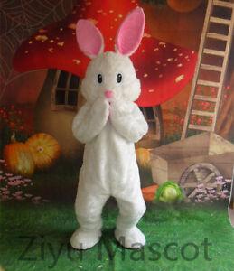 Easter Rabbit Mascot Costume Cartoon White Cosplay Animal Fancy Dress Adults New