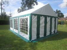 4x6m  Partyzelt Festzelt Bierzelt Zelt Pavillon PVC grün-weiß NEU
