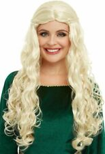 Medieval Dragon Goddess Wig Blonde Long Wig With Plaits Fancy Dress Wig