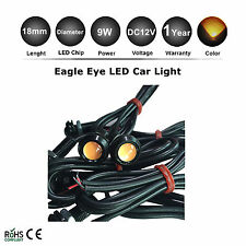 2x 9W LED Eagle Eye Yellow Light Daytime Running DRL Tail Backup Light Car Motor
