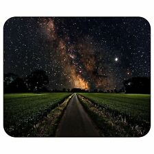 Milky Way Over A Green Field Mousepad Mouse Pad Mat
