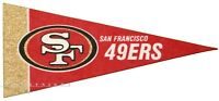 "San Francisco 49ers 9"" (SMALL) pennant officially licensed NFL flag team logo"