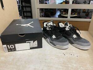 Air Jordan 4 Retro 'Fear' Mens Sneakers, Size 10