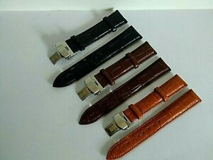 For Rotary Watch Genuine Leather Strap Band Clasp 18/19/20/21/22/24mm