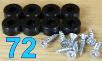 "72 Rubber Bumper Feet (SMALL 1/2"" DIA) Black Utility SILICONE with Screws"