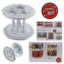 2 Tier Can Tamer Food Beverage Can Carouse Fridge Space Saver Organizer Canister