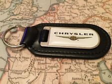 CHRYSLER  PRINTED Quality Black Real Leather Keyrings CROSSFIRE PT CRUISER 300