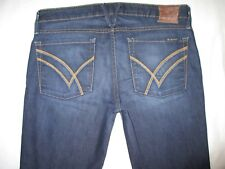 William Rast Low Flare Jeans Dark Distressed Sz 29 Big FIt like sz 30 / 31 L34