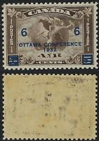 Canada Scott C4: 6c Overprint on 5c Mercury with Scroll in front of Globe, VF-LH