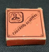 Vintage Medicine Tin: UNGUENTO GUARDIAS, Venezuela skin cream, Tin + Box, empty