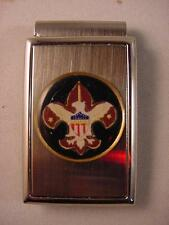 BOY SCOUTS POLISHED SATIN CHROME MONEY CLIP NEW