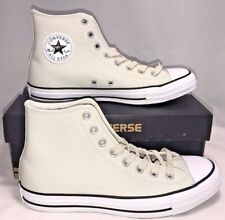 Converse Mens Size 8 Chuck Taylor All Star Leather Buff White Casual Shoes