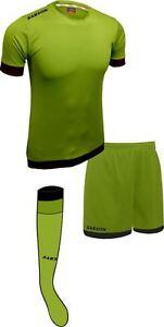 Soccer Lime Green/Black Sarson Bremen Uniform Kit Jersey Shorts and Socks