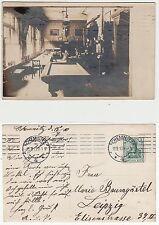 Chemnitz,Restaurant Bar oder Kneipe mit Billard Spiel Tisch  Foto RPPC 1910