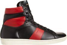 Saint Laurent SL/02H Sneakers High Top BRED Black Red Hedi Slimane Size 42