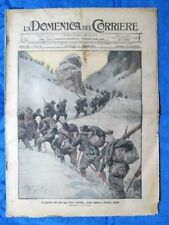 La Domenica del Corriere 4 febbraio 1917 WW1 Alpini - Liegi - Re Carlo Budapest