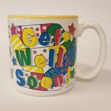 1994 Flowers Inc Balloons Fib Get Well Soon #683800 Coffee Mug Band Aids & Stars