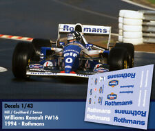 Decals 1/43 - F1 - Senna / Hill / Coutlhard - Williams Renault FW16 - Rothmans