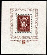 LIECHTENSTEIN 1934 BLOCK1 ** POSTFRISCH SPITZENSTÜCK (Z7552