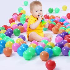 10x Ball Ocean Balls Soft Plastic Ocean Ball Baby Kid Swim Toy Random Color