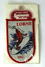 LORNE VICTORIA AUSTRALIA Travel Woven Cloth Souvenir Surfer Prawn Shrimp Patch