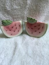 Susan Winget Watermelon salt and pepper shakers