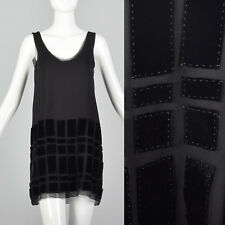 Small 2000s Vera Wang Lavender Label Black Tank Top Mini Dress Sleeveless Shirt