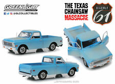 """1/18 1971 Chevrolet C-10 Pickup Truck Light Blue (Dusty) """"The Texas Chainsaw Mas"""