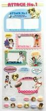 RARE Attack NO. 1 Clear Sticker Sports Volleyball Comic Girl Lady Anime FS JAPAN