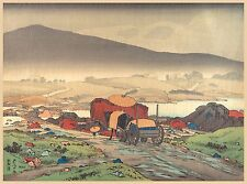Japanese Art Print: Rain at Yakabe by Hashiguchi Goyo - Fine Art Reproduction