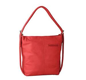 Gabee - Indiana Leather Convertible Handbag/Backpack - Red