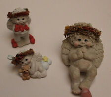 Set of 3 Dreamsicles Cherub Figurines: Handful Of Hearts, Cuddle Up, & a Sitter