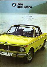 Bmw 2002 cabriolet 1973-74 uk market sales brochure