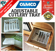 Utensil Cutlery Flatware Tray RV Camper Drawer Silverware Organizer Storage
