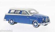 NEO SCALE MODELS  - 49521 SAAB 95 BLUE + WHITE COLOUR 1:43 SCALE.