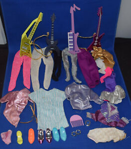 Jem And The Holograms Doll OUTFITS FASHION CLOTHING SHOES GUITARS Lot
