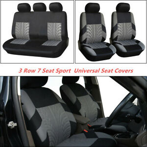 3 Row 7 Seat Washable Sport Universal Seat Covers Fits all Standard Car Seats