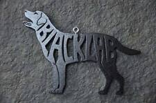 Black Lab Labrador  Wood Toy Dog Christmas Ornament Gift Tag New USA