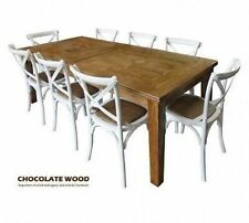 Wooden Dining Sets with Extending and 9 Pieces