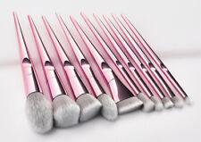 10PCS Makeup Tools Eyes Brushes Cosmetic Face Powder Eyeshadow Brush Pink