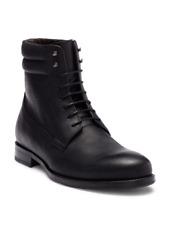 $325 Bacco Bucci Cesc Men's Black Lace Up Leather Boots Size 13
