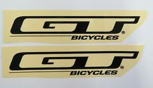 GT Bicycle Decal Stickers Pair  BMX  Black or White 9.75  inches