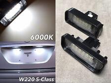 W220 NO ERROR 6000K LED LICENSE PLATE LIGHT LAMP FOR 98-06 S500 S430 S55 S65