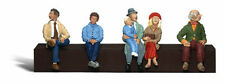 6 Passengers Sitting In A Train, Bus Or Station By Woodland Scenics- Ho-Scale