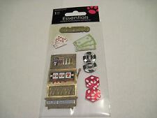 Scrapbooking Crafts Stickers Sandylion Casino Slot Machine Cards Poker Chips $