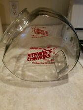 Vintage Store Counter Top Glass Advertising Display Jar Stewie's Chewies Cookies
