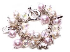 Pearl Power' ladies multicharm bracelet with handbag/car/shoe features (NS5)