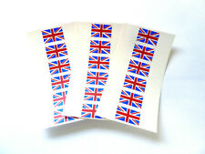 Small, Durable Plastic British Union Jack flag stickers GB sticky labels